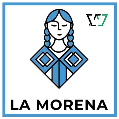 La Morena Women Farmer Logo