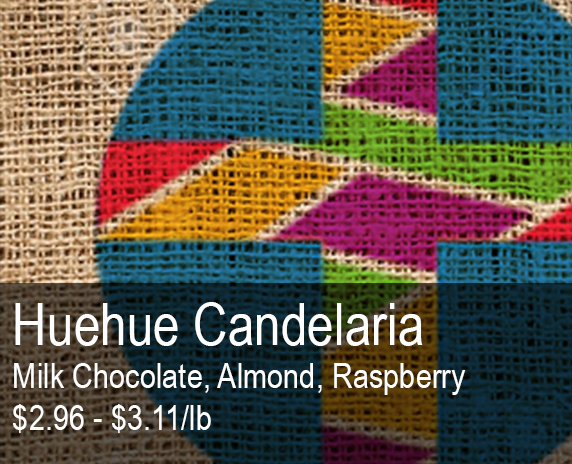 Shop Huehue Candelaria - Milk Chocolate, Almond, Red Fruit, Raspberry - perfect for SOE and cold brew - $2.96 - $3.11/lb.